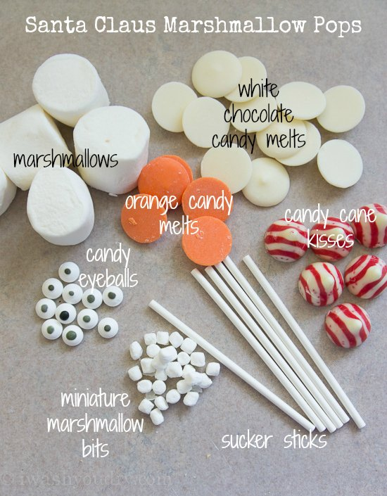 Santa Claus Marshmallow Pop