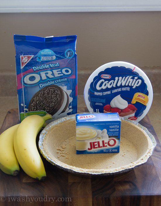 No Bake Banana Oreo Cream Pie