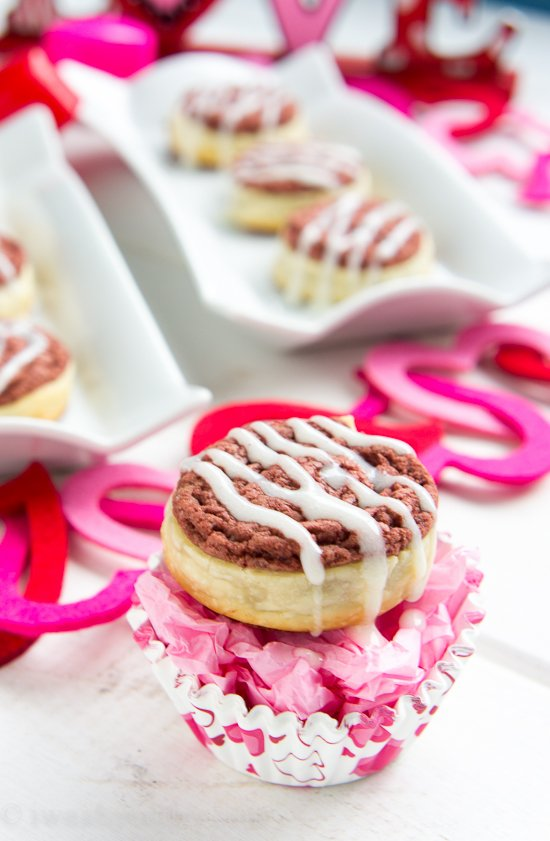 Red Velvet Pinwheel Cookies