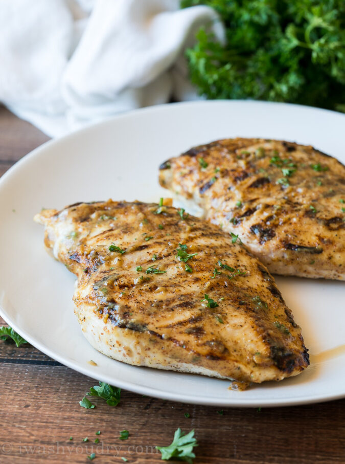 Don't forget to get the BEST grilled chicken, make sure you let your chicken breast rest for 5 minutes before slicing.