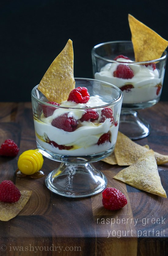 Raspberry Greek Yogurt Parfait