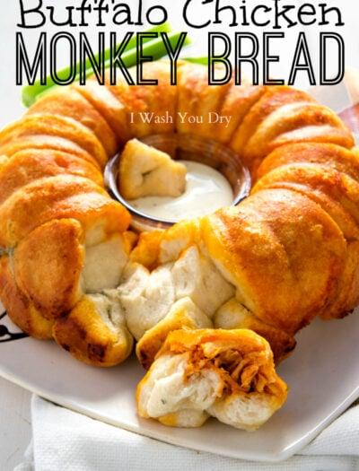 Buffalo Chicken Monkey Bread