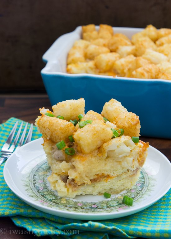 Sausage, Egg and Cheese Tater Tot Breakfast Casserole | I ...