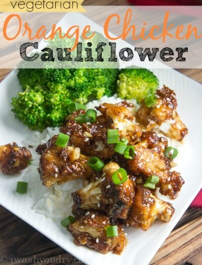 Vegetarian Orange Chicken Cauliflower