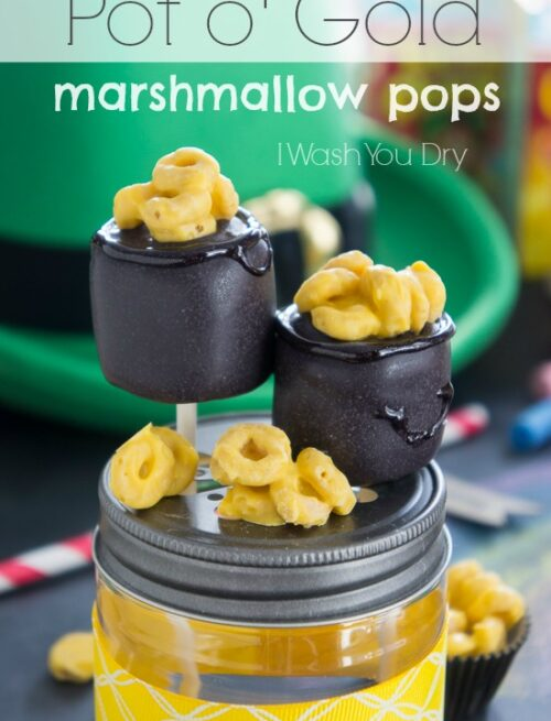 Pot o' Gold Marshmallow Pops