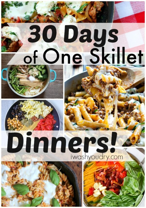30 days of one skillet dinner recipes i wash you dry 30 days of one skillet dinners forumfinder Gallery