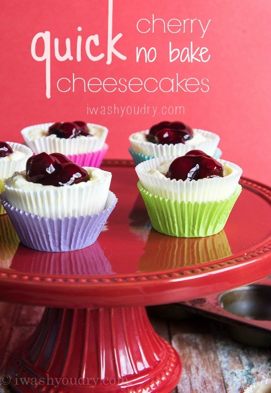 Quick Cherry No Bake Cheesecake