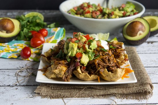 Carne Asada Nachos with Avocado Pico de Gallo