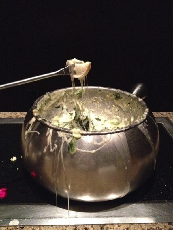 Spinach and Artichoke Fondue