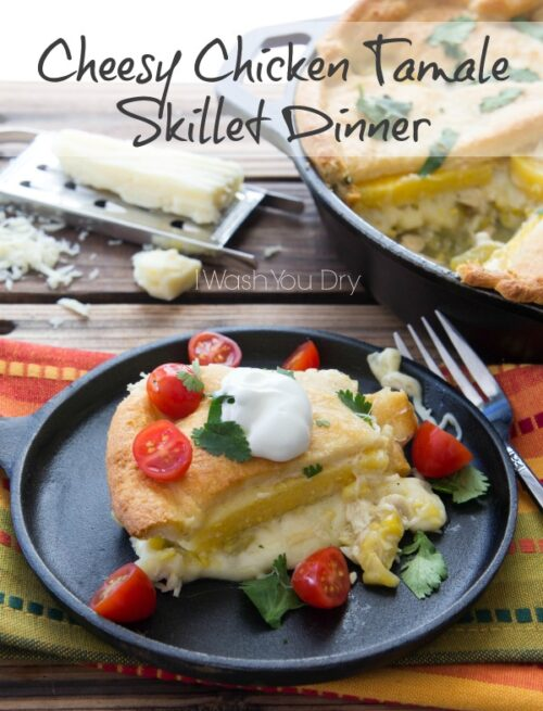 Cheesy Chicken Tamale Skillet Dinner