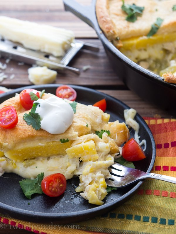 Cheesy Chicken Tamale Skillet Dinner