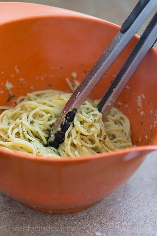 Pesto Spaghetti Carbonara