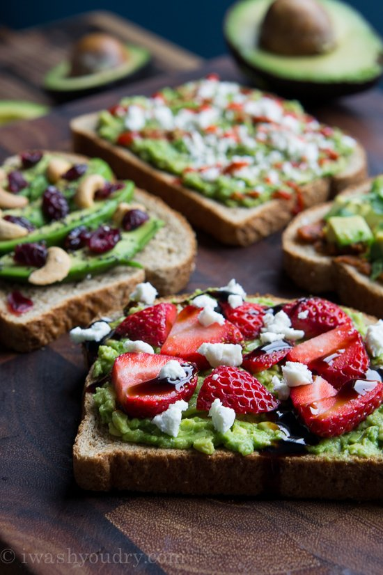 California Avocado Toasts - 4 Ways!!