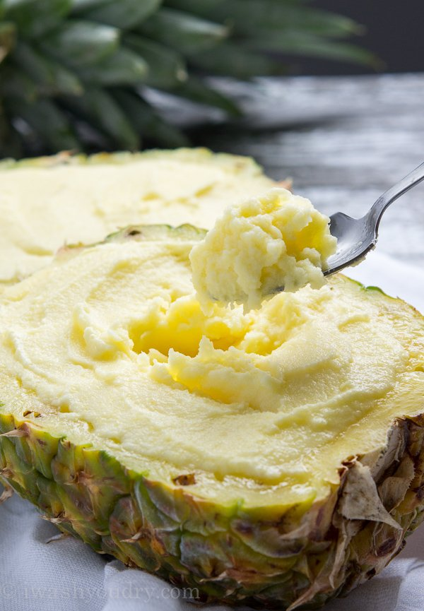 This Creamy Pineapple Sorbet is so refreshing and super easy to make too!