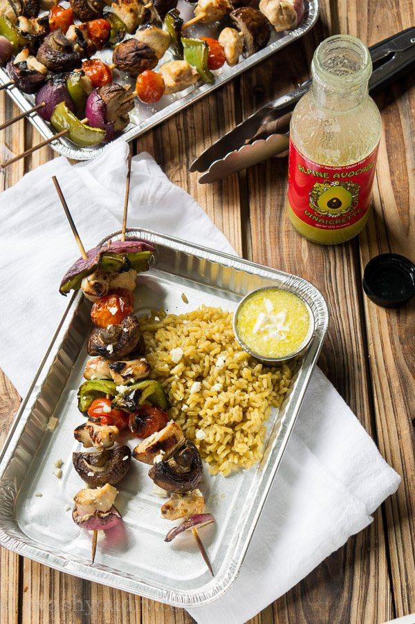 Avocado Chicken Kabobs