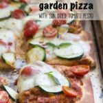 Garden Pizza with Sun Dried Tomato Pesto