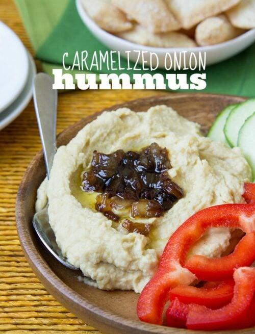 Caramelized Onion Hummus Recipe