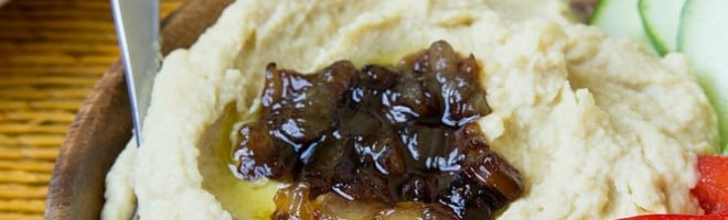 Caramelized Onion Hummus Recipe