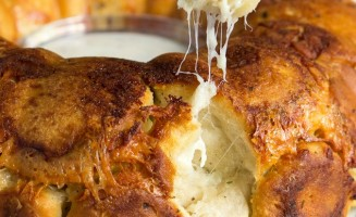Cheesy Chicken Ranch Monkey Bread … with bacon!! Of course!