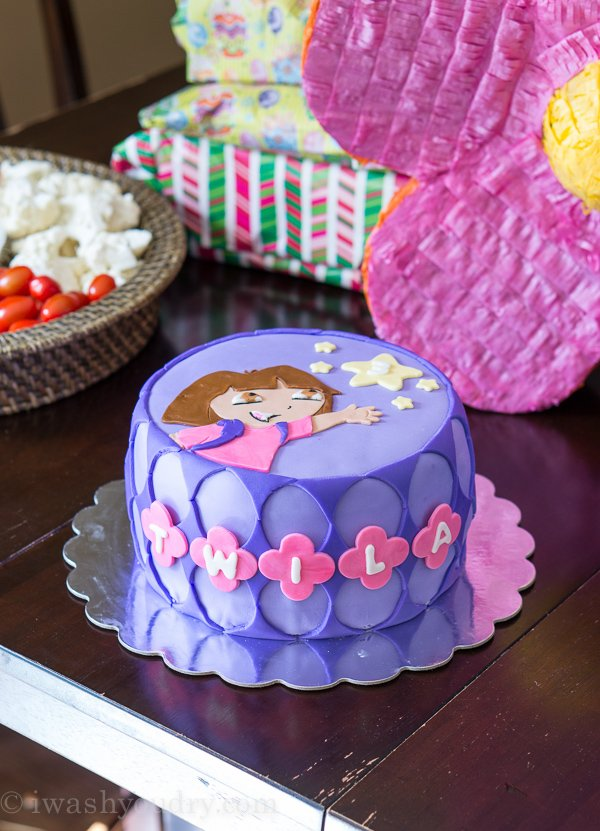 DIY Dora Cake with easy Marshmallow Fondant