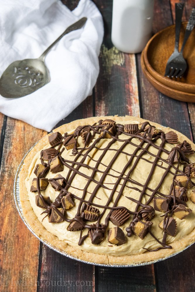 Chocolate Bottomed Peanut Butter Pie