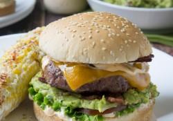 Spicy Guacamole Bacon Burger