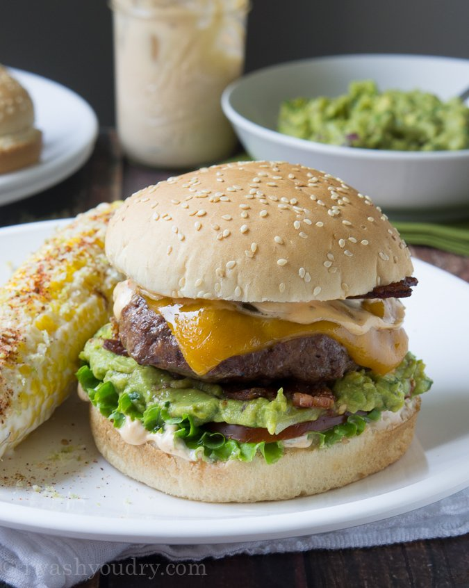 Spicy Guacamole Bacon Burger