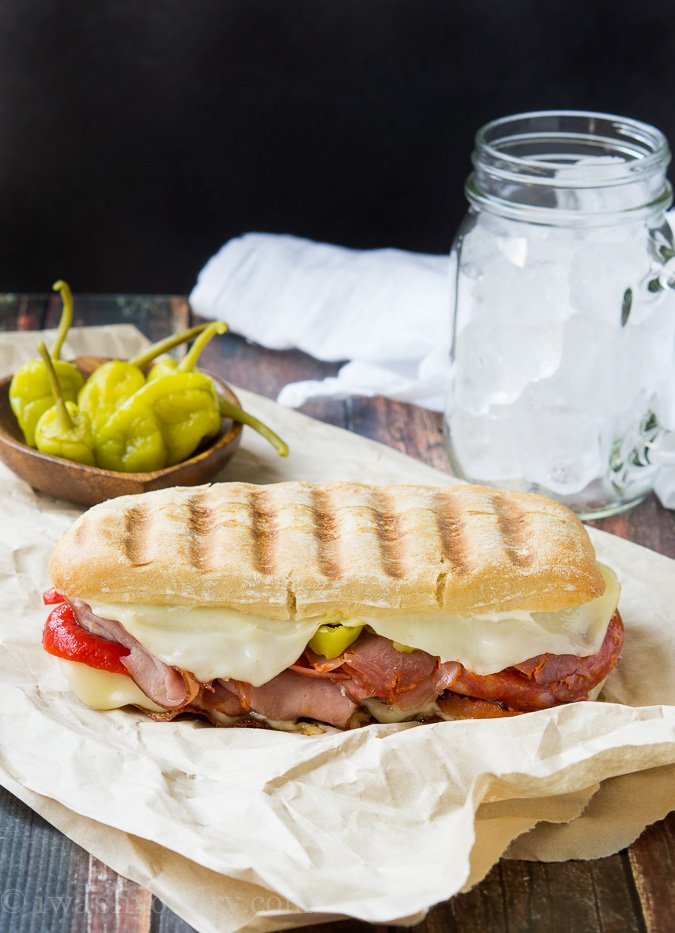 panini grill pressed italian party italian pork panini grilled ...