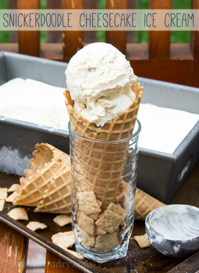 Snickerdoodle Cheesecake Ice Cream