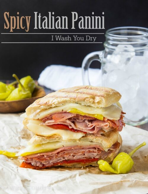 Spicy Italian Panini! The perfect easy weeknight dinner recipe for busy back to school nights!