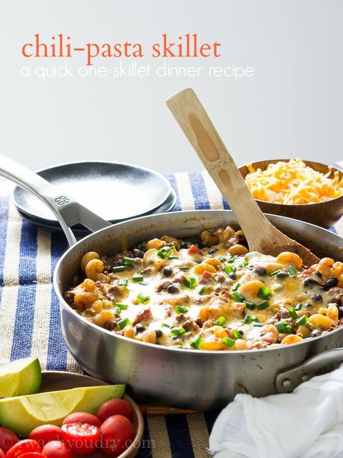 Chili-Pasta Skillet