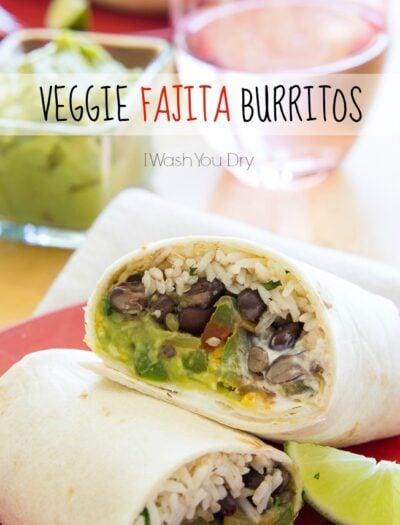 Veggie Fajita Burritos