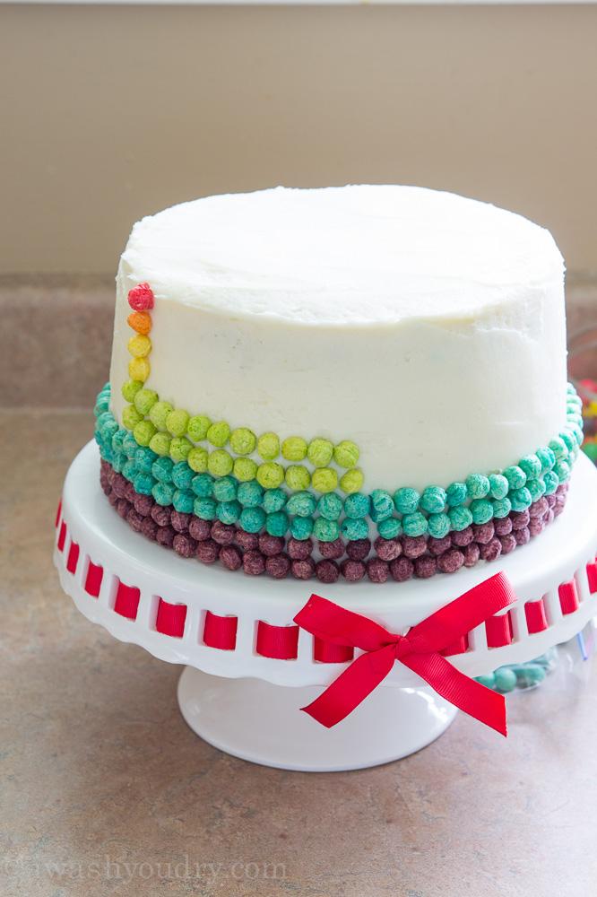 Surprise Inside Rainbow Cake I Wash You Dry