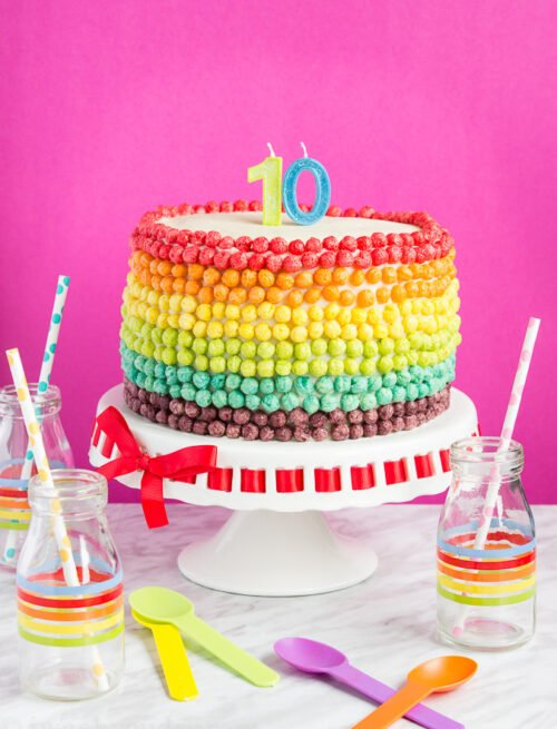 Surprise Inside Rainbow Cake