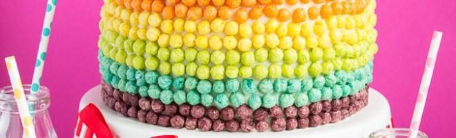 Surprise Inside Rainbow Cake