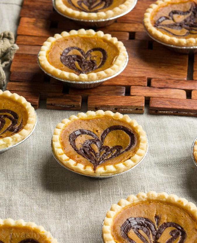 Pumpkin Nutella Tarts