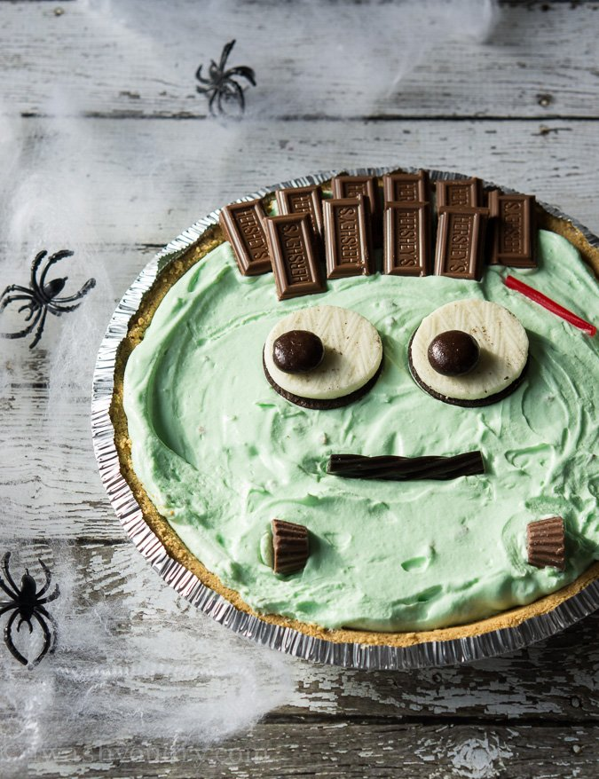 Pistachio Cream Frankenstein Pie