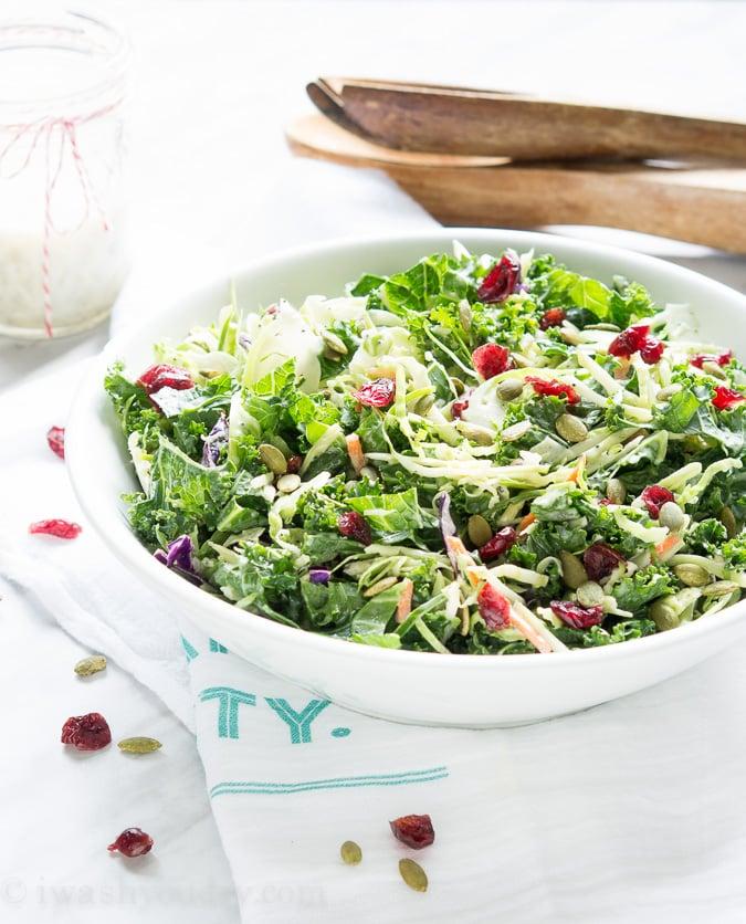 Kale Power Salad - I Wash... You Dry