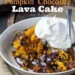 Crock Pot Pumpkin Chocolate Lava Cake