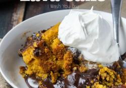 Crock Pot Pumpkin Chocolate Lava Cake