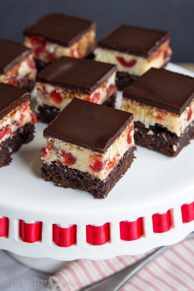 White Chocolate Cherry Fudge Brownies