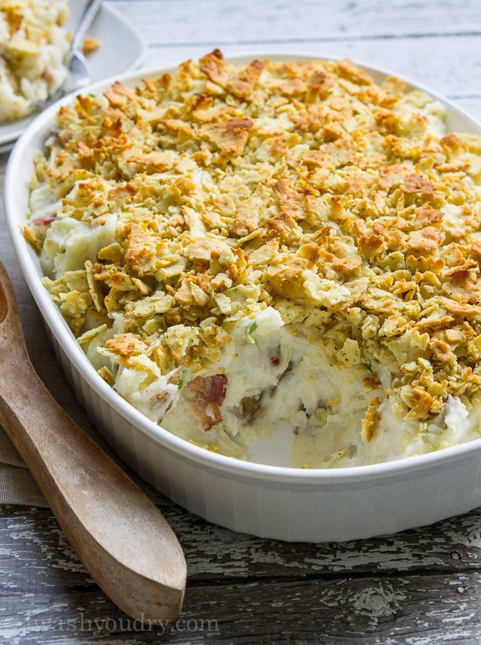 Loaded Garlic Mashed Potato Casserole!