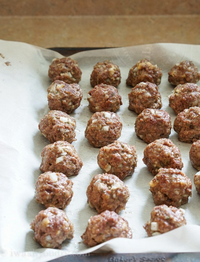 Make Ahead Frozen Meatballs