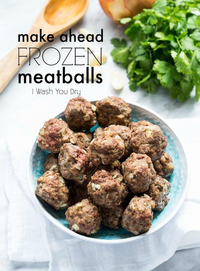 Make Ahead Frozen Meatballs