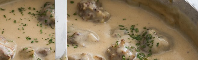 Super Easy Swedish Meatballs are a simple dinner recipe that is made in just a few minutes!