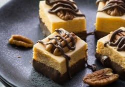 No thermometer required - Turtle Fudge!! Super easy and so tasty too!