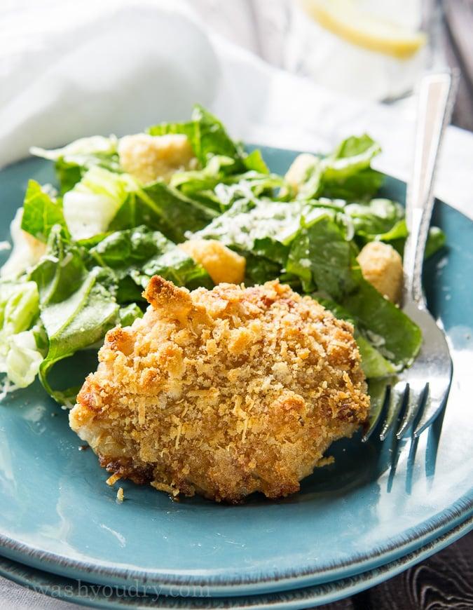 Crispy Chicken Caesar Thighs