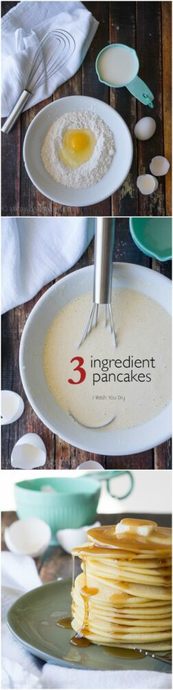 Vintage Recipe! These 3 ingredient Pancakes are so easy to make and are simply irresistible!