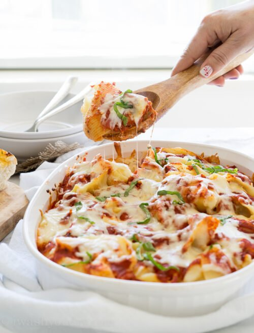 Cheesy Lasagna Pasta-Stuffed Shells