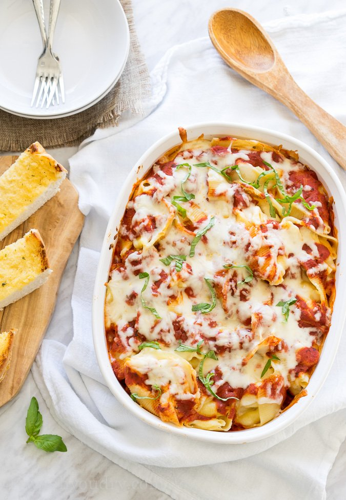 Cheesy lasagna pasta stuffed shells i wash you dry for Better homes and gardens lasagna